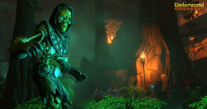 Underworld Ascendant Screenshot Underswamp and Skeletons