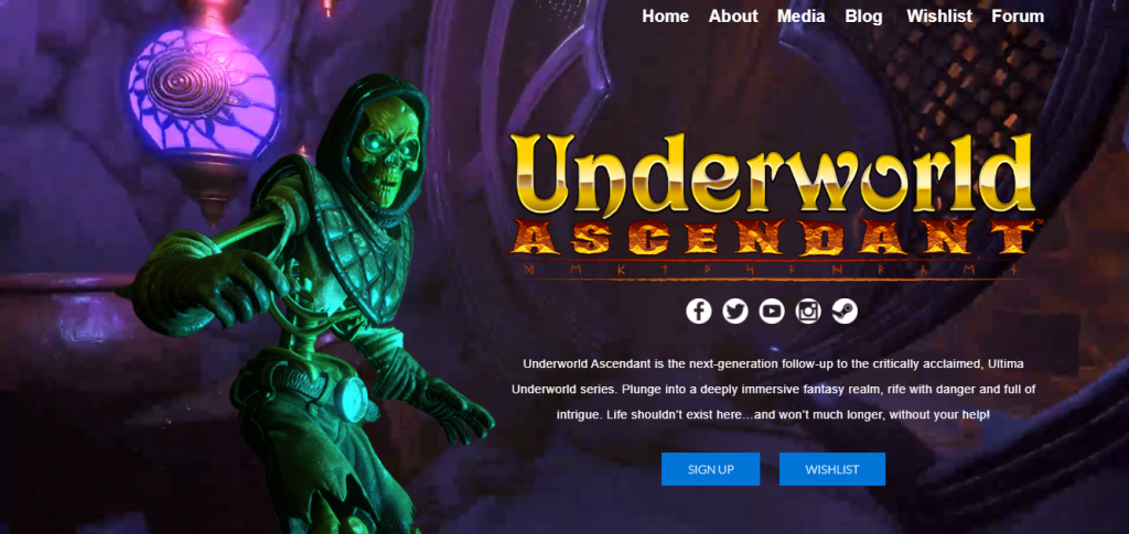 underworld ascendant website link